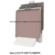 Modern White Display Stand for Tile