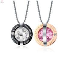 Unique round pendant,simple happiness pendant,lovers jewelry
