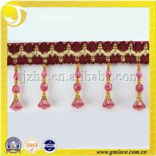 Cojines borla franja recorte perla cristal acrílico cortina