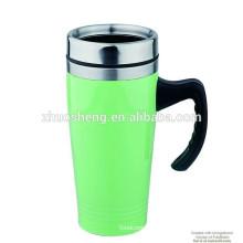 16OZ Double Wall SS Travel Mug,Thermos Mug,Coffee Mug,Plastic Mug