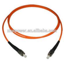 Мульти-режим, симплекс, 3 м, ST / ПК, ПВХ, 2 мм, наружный волоконно-оптический патч-корд с одномодовым оптоволоконным кабелем