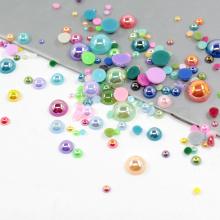 Atacado 12mm plástico flat back pearls FP01