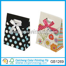 mini paper gift bag with bow-knot