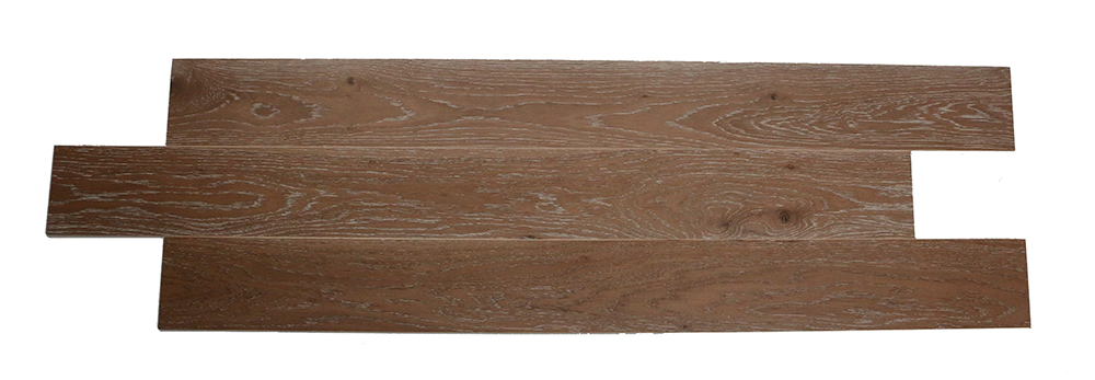 Dark brown European oak solid wood composite SPC flooring