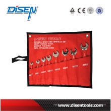 8PC (6-22) Kenaf Canvas Bag Double Open End Wrench Set