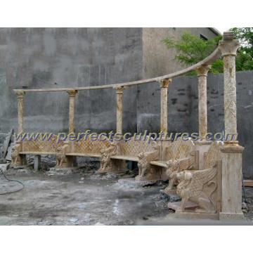 Silla de jardín de mármol tallada de la piedra para los muebles del jardín (QTC060)
