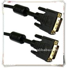 Hochwertiges Gold überzogenes 1.8m 6FT Schwarzes DVI zum DVI Kabelmann zum männlichen DELL DVI-D zum DVI-D LCD Monitor PC Videokabel