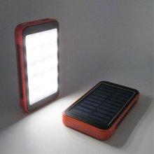 Whosale&Retail New Arrival 8000mAh Portable Solar Panel Power Bank
