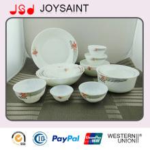 Ensemble de vaisselle en verre opale 20PCS