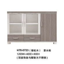 Modern Wooden Frame Filing Cabinet with Glass Door (H70-0723)