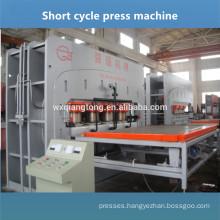 V-groove HDF board parquet laminate flooring press machine