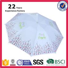 Fabricante de China Barato Custom Print Sun y Lluvia Paraguas Lady's Beauty 8 Paneles Personalizados Impresión Plegable Umbrela