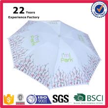 China Manufacturer Cheap Custom Print Sun and Rain Umbrella Lady's Beauty 8 Panels Custom Printing Umbrela Folding