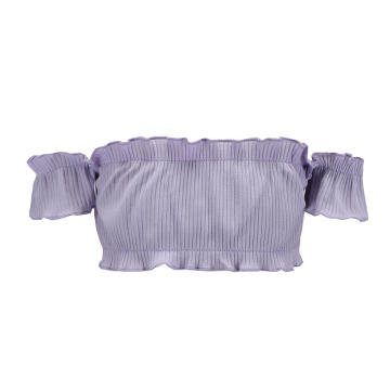 Frauen Short Summer Off Shoulder Top
