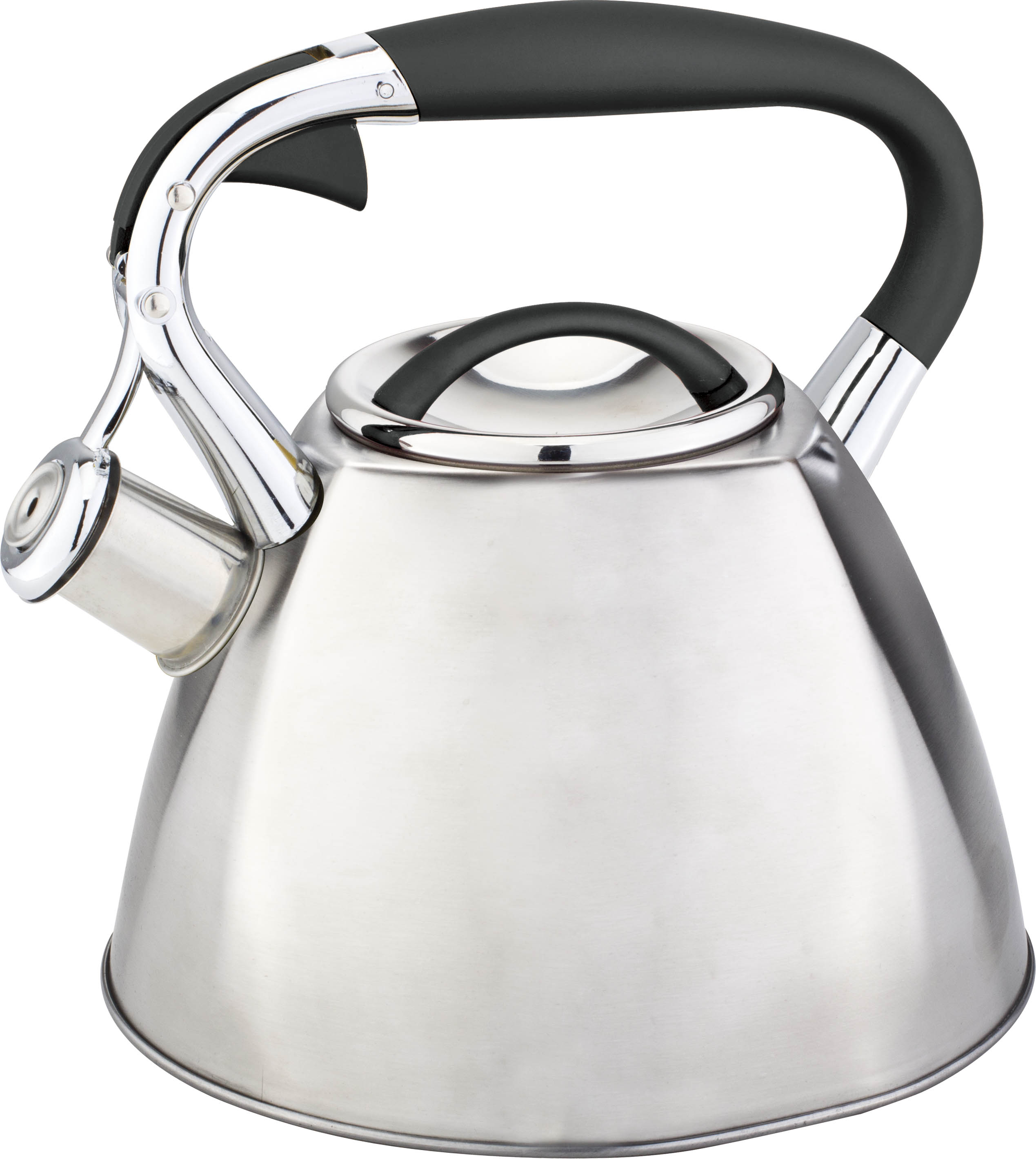 An electric kettle boils water