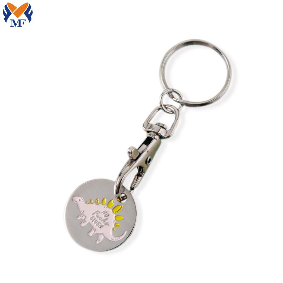 Shopping Trolley Coin Keyring