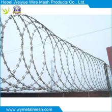 Sicherheits-Mesh-Zaun mit Razor Stacheldraht