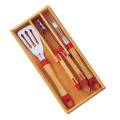 3pcs BBQ Tools in Holzkiste