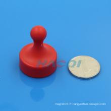 Aimant en pot néo-permanent en plastique coloré