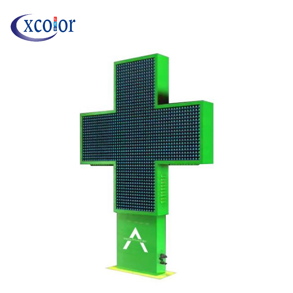 LED Pharmacy Cross Display Message Scrolling P10 Screen