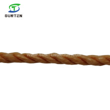 Factory Cost 3 Strand Brown Twisted/Twist White PP/Polypropylene Splitfilm/Split Film Rope for Agriculture Packing