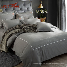 Marcas de textiles para el hogar moderno Gold Sufang con fundas de almohada Oxford en algodón de fibra larga