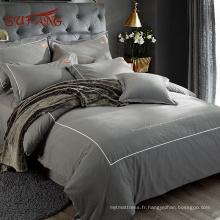 Marques de textile à la maison modernes Gold Sufang avec taies d'oreiller Oxford en coton longue soie