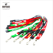Fashion Customized Exposition Sublimation Imprimé Logo Nylon Tissé Polyester Promotionnel Neck Lanyard