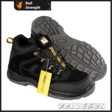 Black Suede Leather Safety Shoe with New PU/PU Outsole (SN5504)