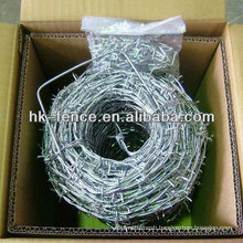 High Tensile Double-Strand Hot Dipped Galvanized Barbed Wire Coil with 4 Point Barb