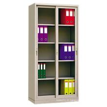 Deux portes coulissantes en verre Office File Metal Storage Cabinet