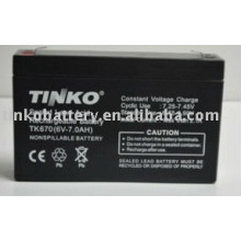 vom erfahrenen Hersteller in Shenzhen 6v 7.0ah versiegelte Blei-Säure-Batterie