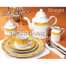 Juego de té de porcelana 24 piezas (66208 #)