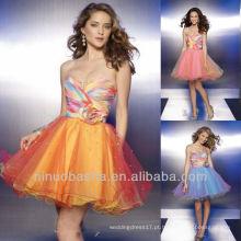 Trendy Sweetheart Sequin A Line Mini vestido de graduação de vestido de casamento