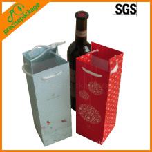 Christmas Gift Paper Bag for 1 bottle wine
