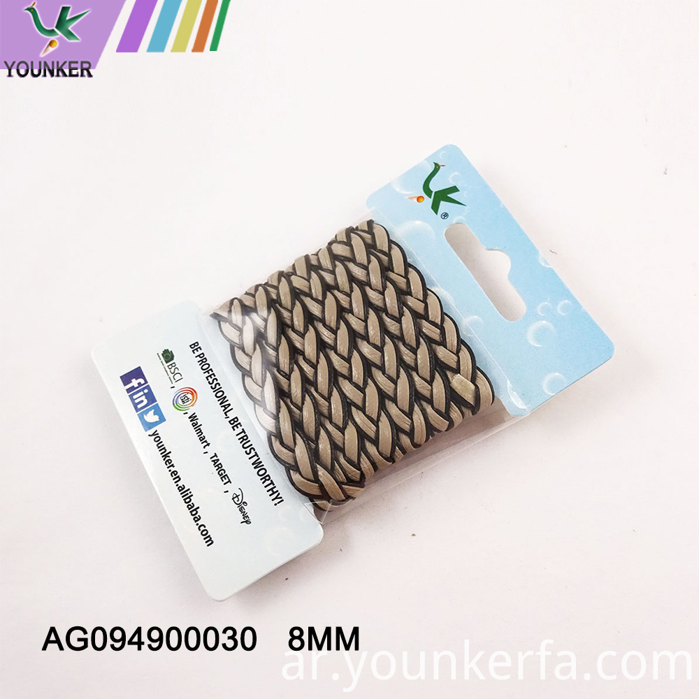 8mm Pu Imitation Braided Leather Cord