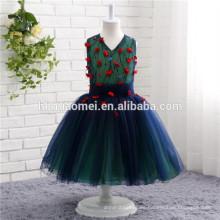 Europa y los Estados Unidos sueñan los niños falda fuente de la fábrica vestido pequeño vestido de niña de las flores vintage para niñas fiesta de vestir
