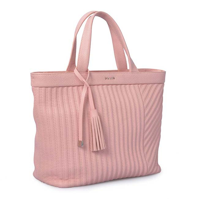 Hot selling trendy real leather handbag ladies shopping tote bag