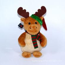 Plush Christmas Deer Decoration