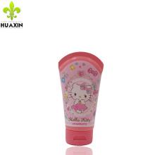 Emballage en plastique de tube de crème de main de bady de cosmétiques de 50ml avec des chapeaux