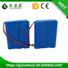 11.1 v / 12 v 2000 mah 18650 bateria de iões de lítio recarregável