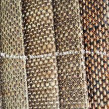 Tejido de lino áspero 100% poliéster para uso doméstico