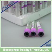 tubo de recogida de sangre médica 3 ml, 5 ml, 10 ml
