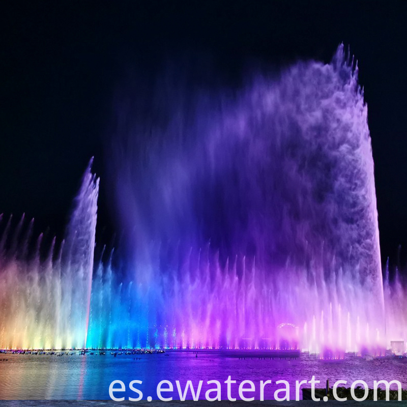 Fountains With Lights