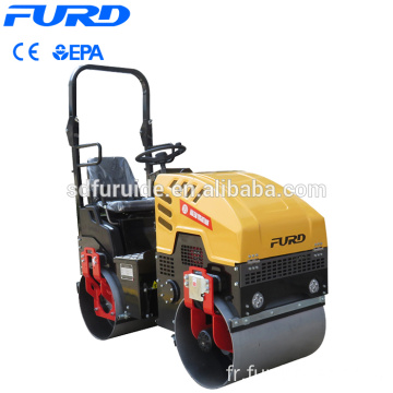 1000kg Double Drum Vibratory Compactor Mini Road Roller with CE EPA Fyl-880