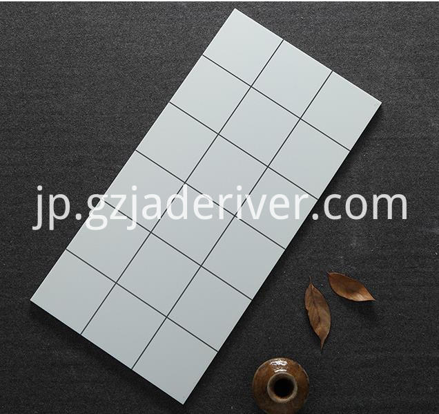 Black and White Square Mosaic Stone Tile