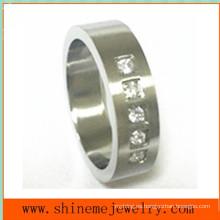 Joyería de moda anillo 5pcs piernas incrustadas anillo de acero inoxidable (czr2524)