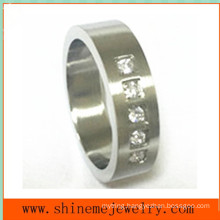 Fashion Jewelry Ring 5PCS Stones Inlaid Stainless Steel Ring (CZR2524)