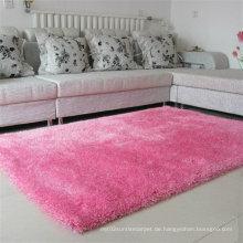 Hochwertiger rosa Seidenteppich