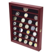 Wooden Coin Box Coin Holder Store Display Rack